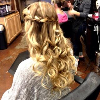 Waterfall Braid Prom Hair