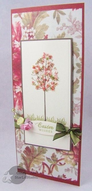 Easter Card - Cards 109: Cards Ideas, Crafts Cards, Cards Trees, Easter Cards, Handmade Cards, Flowers Soft, Cards Papercraft, Cards Flowing Soft, Cards Easter