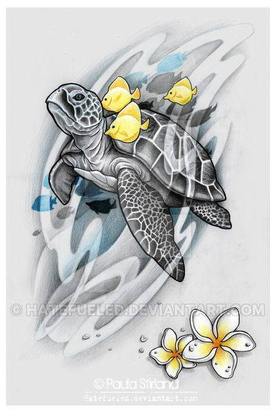 Sea Turtle by hatefueled.deviantart.com on @DeviantArt