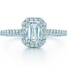 18 K or émeraude bijoux pavée Semi montage bague en or véritable 1CT SONA synthétique diamant bague de fiançailles femmes 18 K or blanc(China (Mainland))
