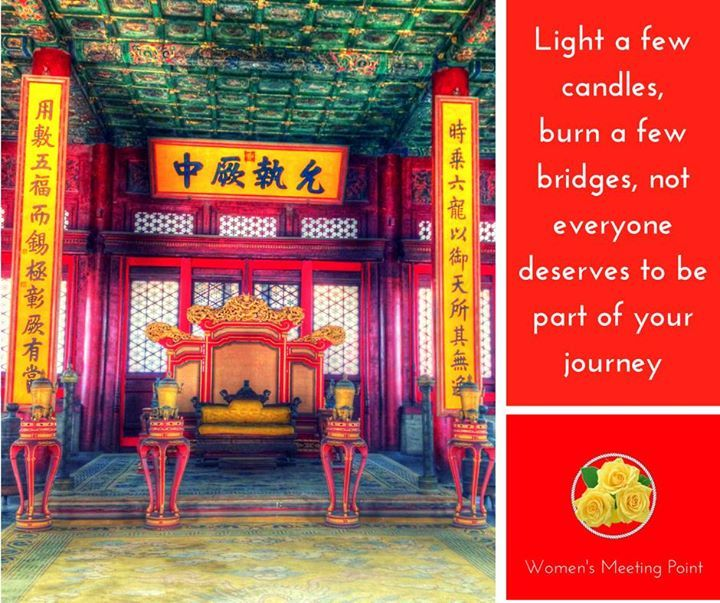 Light a few candles burn a few bridges not everyone deserves to be part of your journey - http://ift.tt/1HQJd81