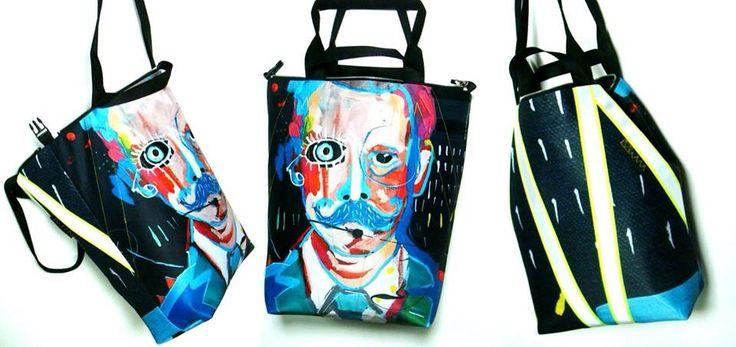 art MIMA bags Painta print painting made in Poland by Maciej Muszynski