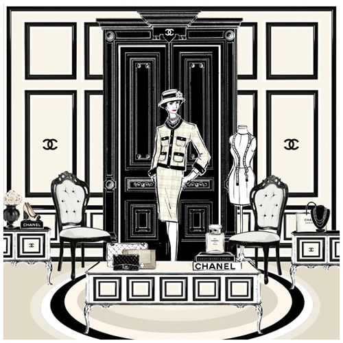 "Megan Hess ""The Coco Chanel Room"", $180.00 by Frankie and Swiss"
