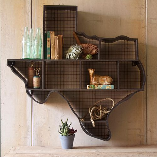 Raw Metal Texas Cubby With Back Wire Mesh Kalalou Decorative Objects Decorative Accessorie