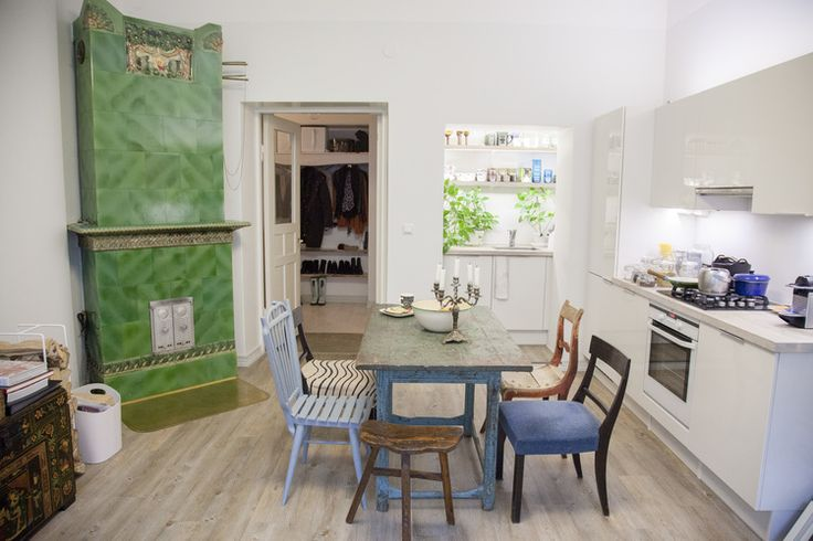 Scandinavian Kitchen design & vintage furniture, See and Feel Spatial design project in Helsinki