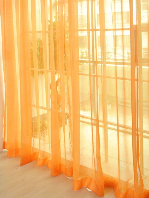 $6.33 Window Sheer Tulle Fabric Curtain For Bedroom (in many different colors)