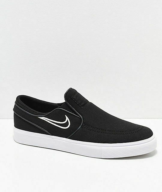super popular 69651 69e83 New Nike SB Janoski Black   Bone Canvas Slip-On Skate Shoes Boy s Sz 5Y   fashion  clothing  shoes  accessories  kidsclothingshoesaccs  boysshoes  (ebay link)
