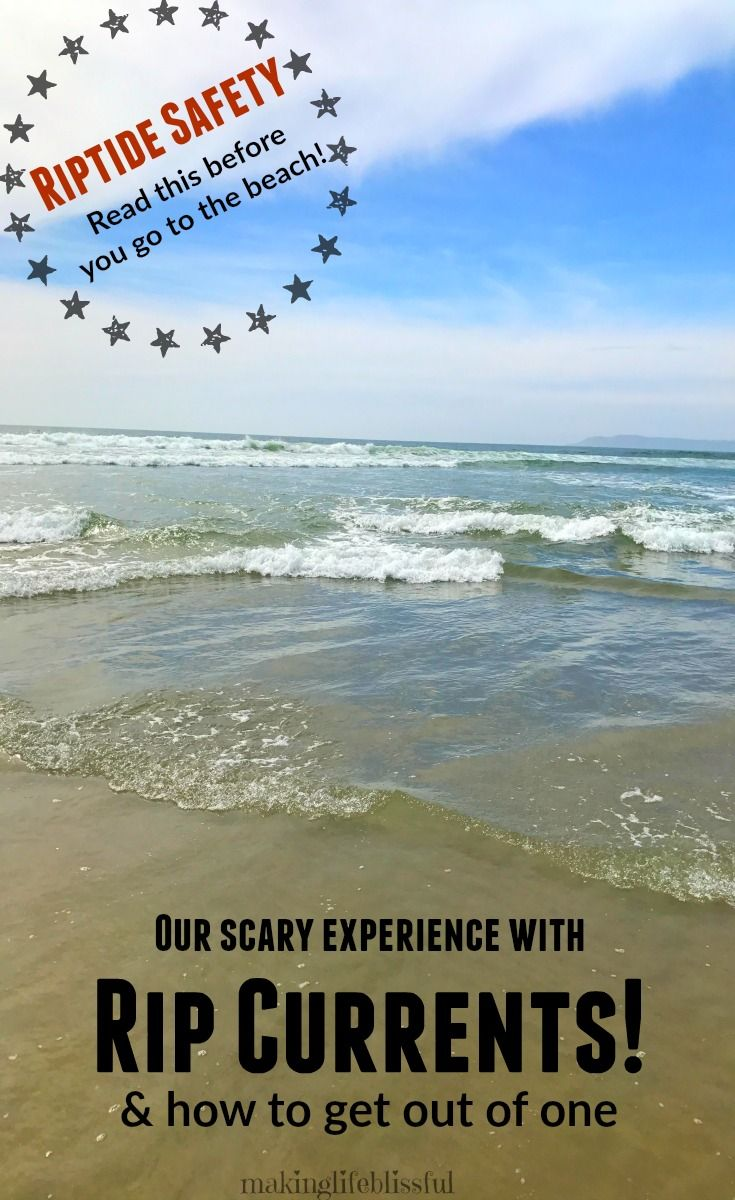 Our scary experience with riptides and how to get out of a rip current. Riptide safety tips.