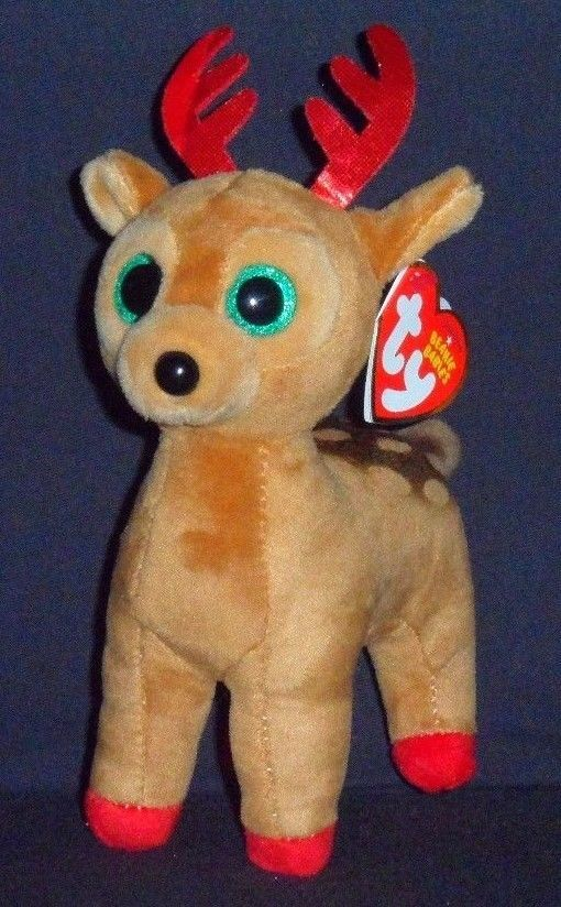 d89bf132aa6ed Details about TY TINSEL the REINDEER BEANIE BABY – MINT with NEAR ...