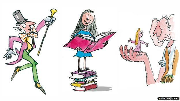 Willy Wonka, Matilda and the BFG with Sophie, copyright ...