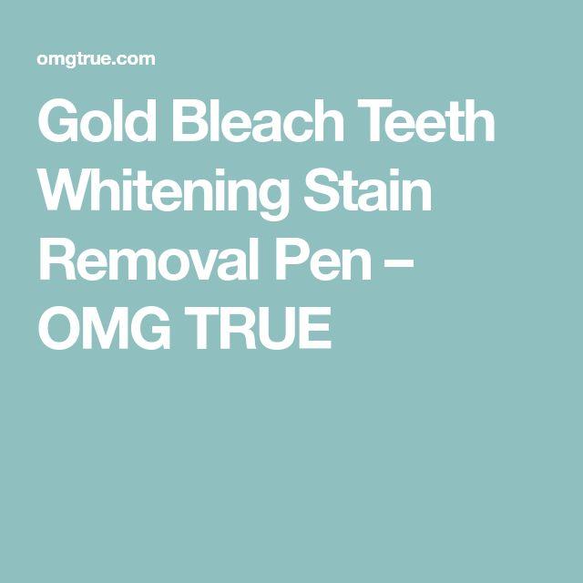 Gold Bleach Teeth Whitening Stain Removal Pen – OMG TRUE