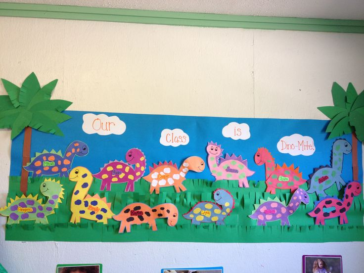 Our Class is Dino-Mite! Bulletin Board idea - very cute :-) would go great with our new Back to School with Dinosaurs theme