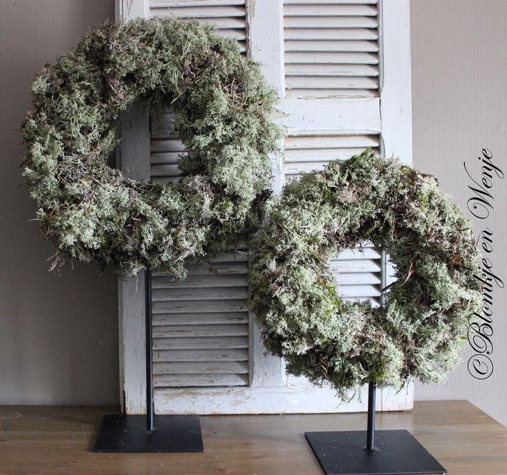 moss mos mosa wreath krans kranz stoer sober landelijk
