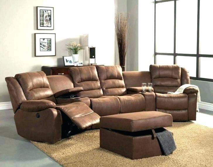 5 Seat Curved Corner Reclining Sectional Classic Sandstone White Leather Recliner Chair R Leather Sectional Sofas Leather Sectional Leather Sectional Sofa