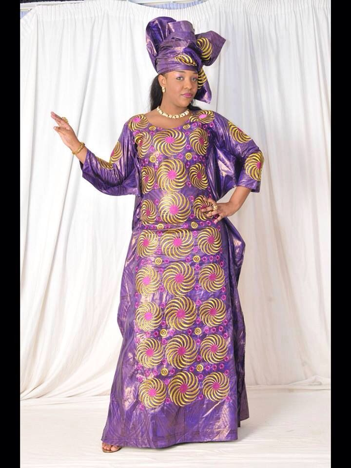 African maxi dress embroidery