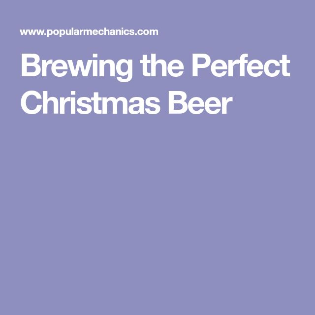 Brewing the Perfect Christmas Beer