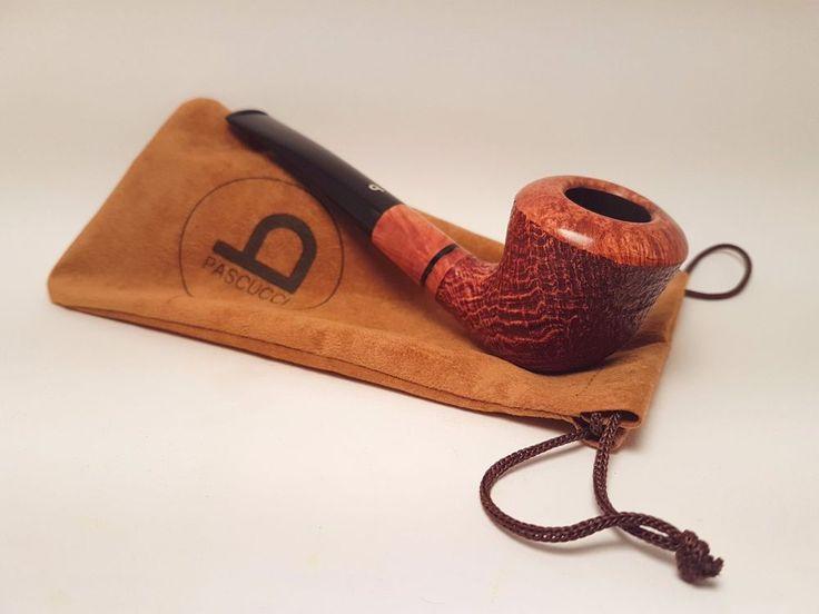 PIPA ITALIANA SABBIATA PASCUCCI, SANDBLASTED SMOKING BRIAR PIPE, PFEIFE
