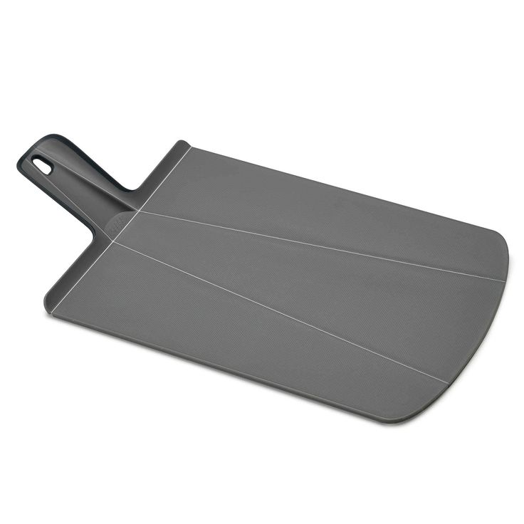 Joseph Joseph Chop2Pot Foldable Plastic Cutting Board & Kitchen Prep Mat, Large, Gray, Grey