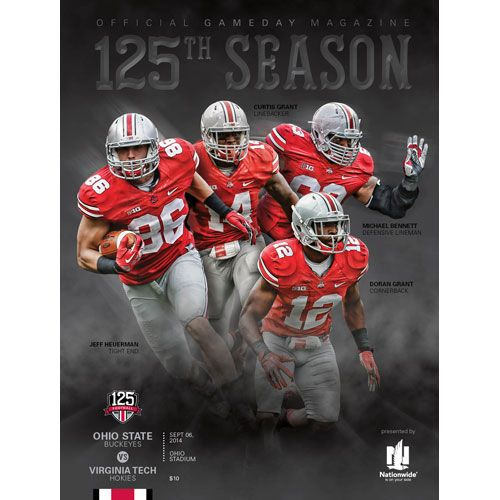 The 2014 Ohio State Official Game Day Magazine vs. Virginia Tech (Game 2), held Sept. 6 at Ohio Stadium. $10 at IMGProducts.net. #Buckeyes