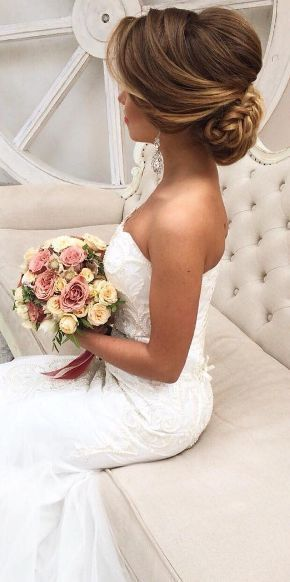 Featured Hairstyle: Elstile; www.elstile.com; Wedding hairstyle idea.