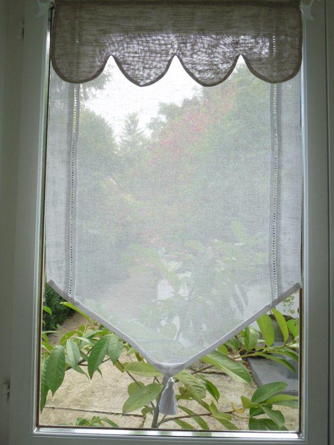 Brise bise en lin Modèle AMBRE 35x120 cm / Brise-bises et Rideaux en prêt à poser