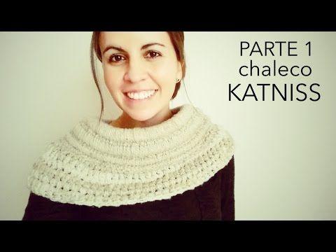 DIY - Chaleco Asimétrico a Crochet inspirado en Katniss Everdeen - Juegos del Hambre - Parte 1 de 2 - YouTube
