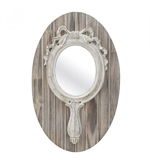 WOODEN WALL MIRROR IN BROWN_ANT_WHITE 32X3_5X50_5
