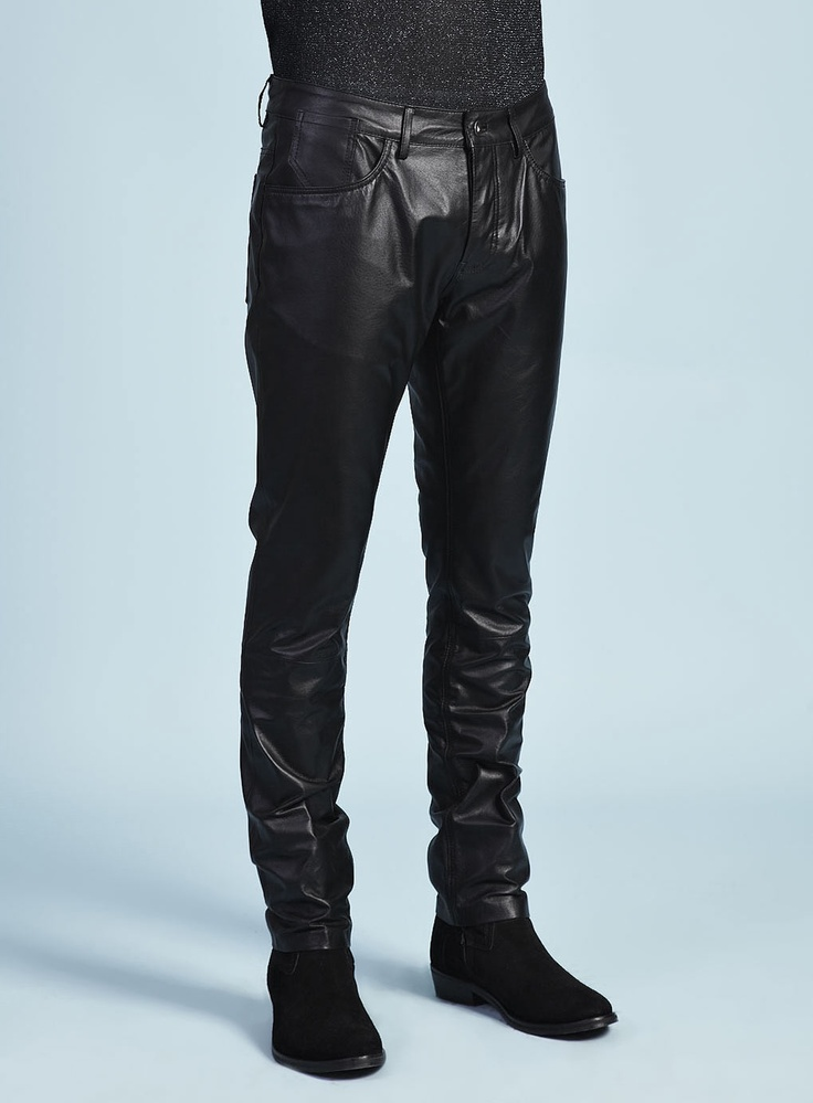 TMD Black Leather Trousers - Topman Design - New In - TOPMAN:  Blue Jeans, Black Leather, Topman Design,  Denim, Leather Trousers, Personalized Style, Tmd Black