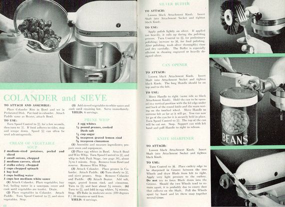 1940s KitchenAid Electric Mixer K5A Model Manual by CookbookMaven