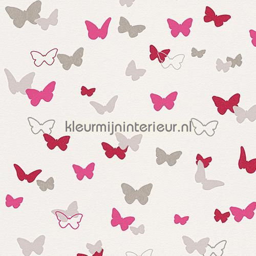 Esprit vlinders fuchsia behang 302892, Esprit Kids 4 van AS Creation