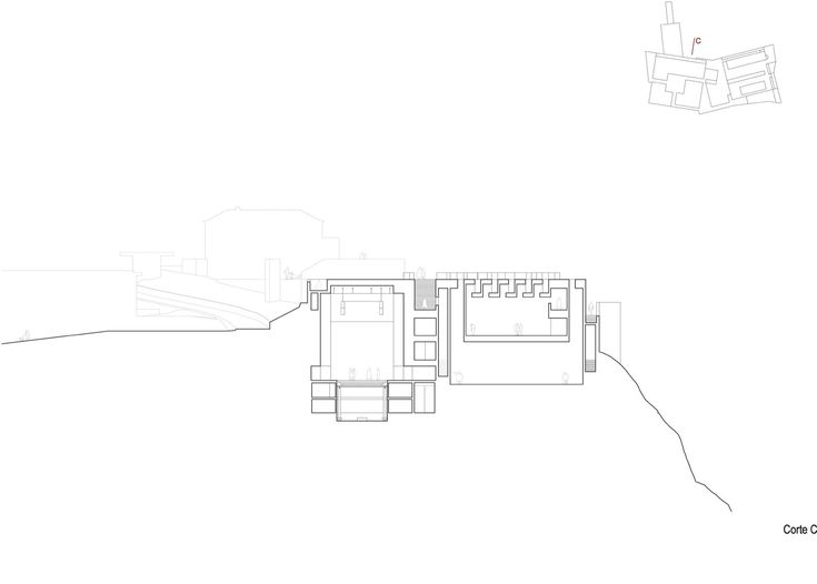 Centro para las Artes Casa Das Muda,corte C