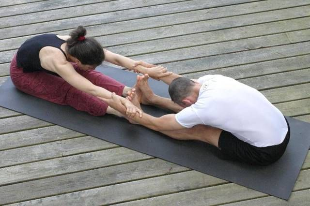 4 Beginner Friendly Partner Yoga Poses Partner Yoga Poses Yoga Poses For Two Partner Yoga
