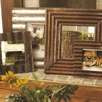 old tin roofing for decor | Old roofing tin frames | photo decor