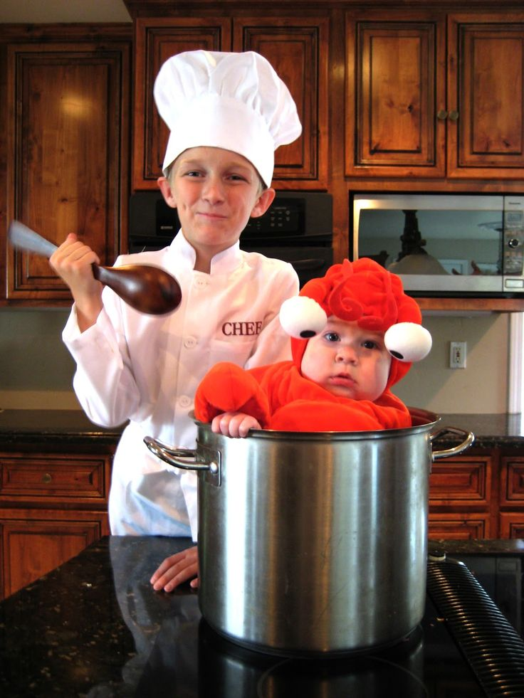 brother halloween costumes chef and lobster - Good Halloween Costumes For Big Guys