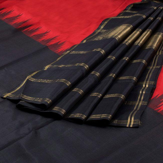 Sri Sagunthalai Silks Handwoven Half and Half Korvai Kanchipuram Silk Saree 10002156 - AVISHYA.COM