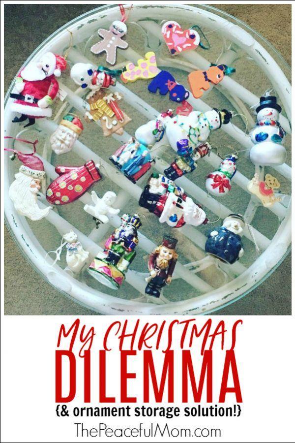 My Christmas Dilemma ( ornament storage solution Christmas ideas