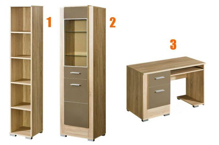 Zařizujete pracovnu nebo studentký pokoj? To budete potřebovat dostatek úložného prostoru a pořádný pracovní stůl. 1 - http://goo.gl/SFLH4P 2 - http://goo.gl/XNmAUB 3 - http://goo.gl/SSxjba