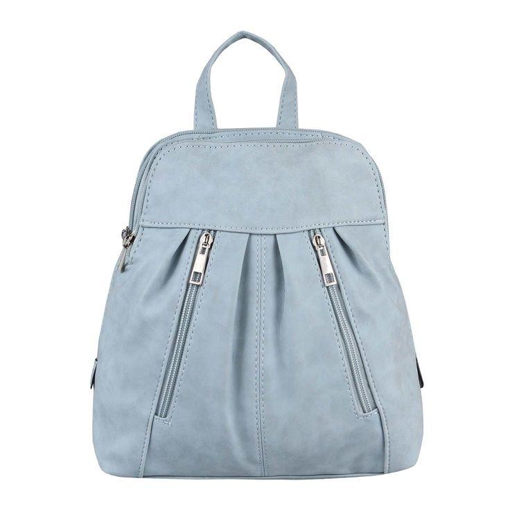 WOMEN'S BACKPACK City Backpack Shoulder Bag Daypack City Backpack Leather Look BackPack Light Blue
