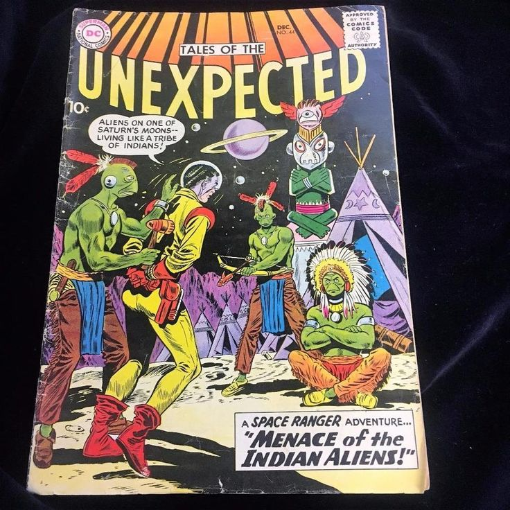 DC Comics 1959 Tales of The Unexpected Menace of the Indian Aliens Space Ranger
