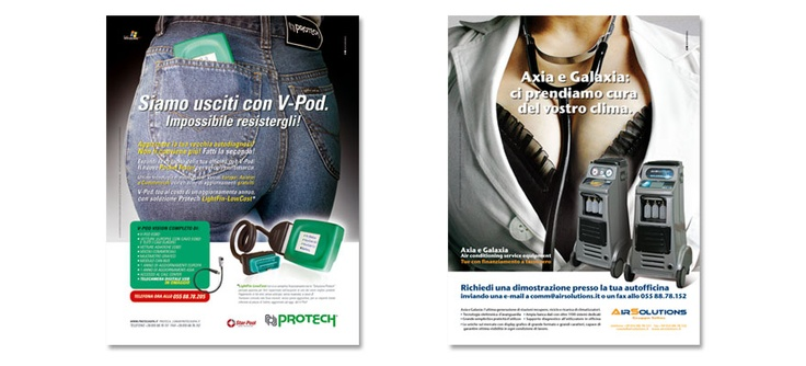 """Seltec s.r.l. - Pagine """"Protech"""" per riviste di settore. Realizzazione: Agenzia Verde"""