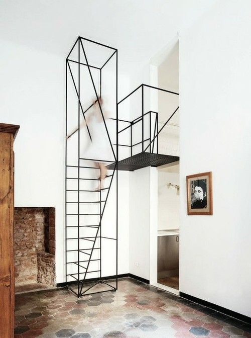 A sculptural - and rather unnerving - staircase.