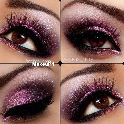 I love the purple with that color of eyes, just gorgeous! Makes me envious of people with brown eyes