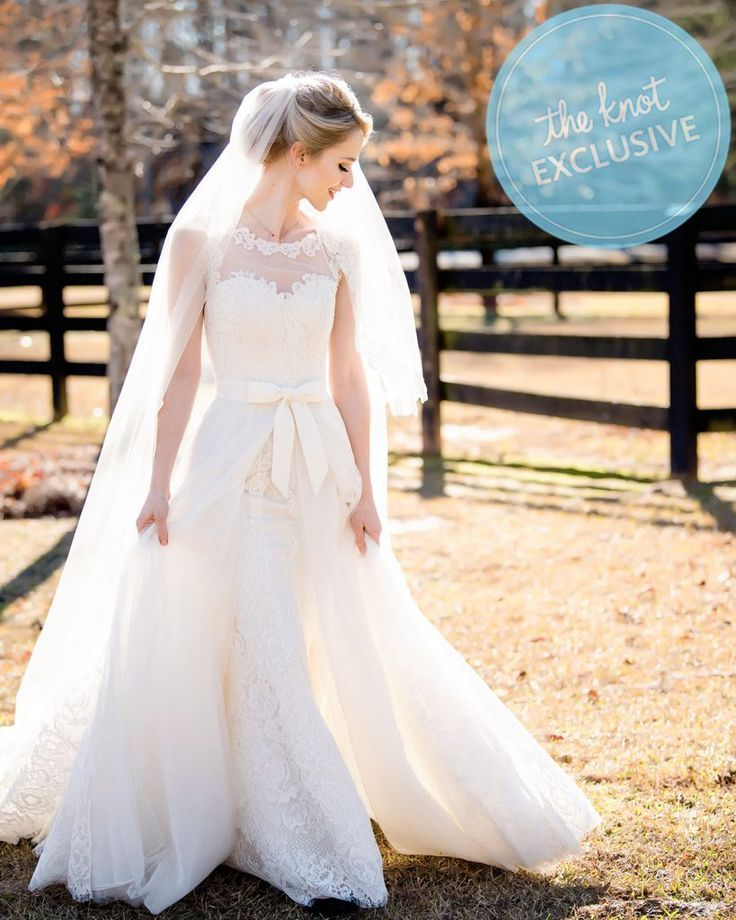 """Celebrity bride Johanna Braddy wed her """"UNReal"""" costar Freddie Stroma. Regarding her custom Anne Barge wedding dress, Johanna said """"I imagined my dream dress and she literally brought it to life."""" See the feature on their wedding in the Summer 17 issue of The Knot magazine. #ad"""