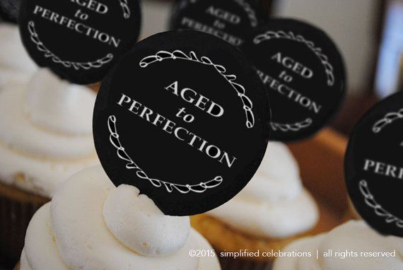 Ages to Perfection Milestone Birthday Cupcake Picks – made by simplifiedlivingshop on Etsy