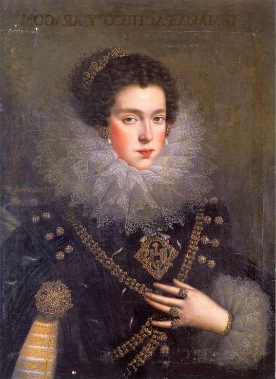 Portrait of Doña María Pacheco y Aragon, the Countess of Añover de Tormes by Rodrigo de Villandrando.