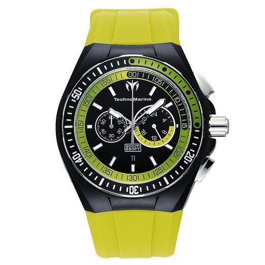 Technomarine 110019 - Reloj de caballero de cuarzo, correa de caucho color negro