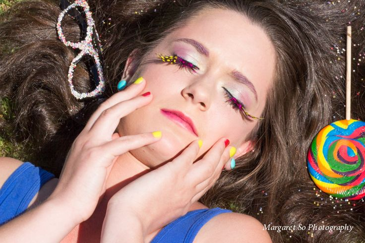 A love for candy!   Model: Tara Robertson, Hair & makeup artist: Nicole Ambrosino, Photographer & Stylist: Margaret So