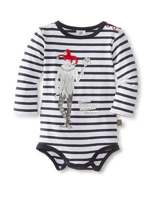 66% OFF Coney Island Baby Longsleeve Bodysuit (Navy White Stripe)