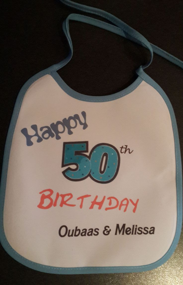 use a baby bib as a birthday card ! place it around a nice bottle of wine !