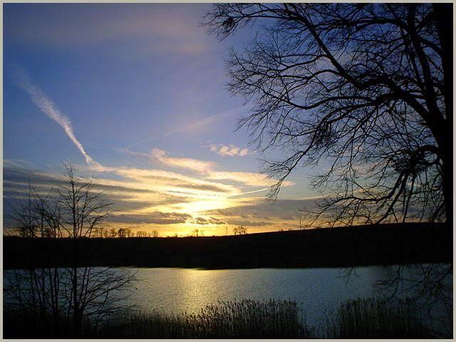 Wieczór nad jeziorem | zoom | digart.pl
